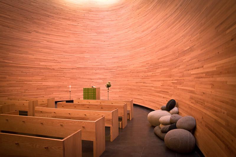 trek urbain à Helsinki - la chapelle du silence