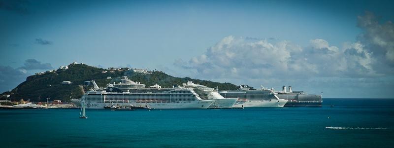 Croisiere MSC Musica caraibes - Dans le port de Saint Martin
