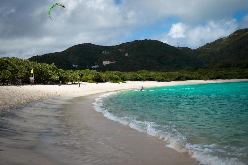 Croisiere dans les caraibes - Kite surfer des iles vierges