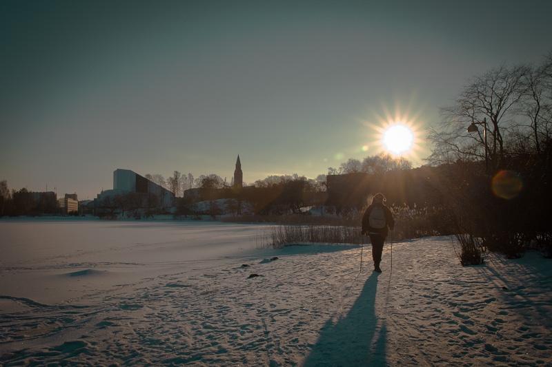 trek urabin a Helsinki - Au parc