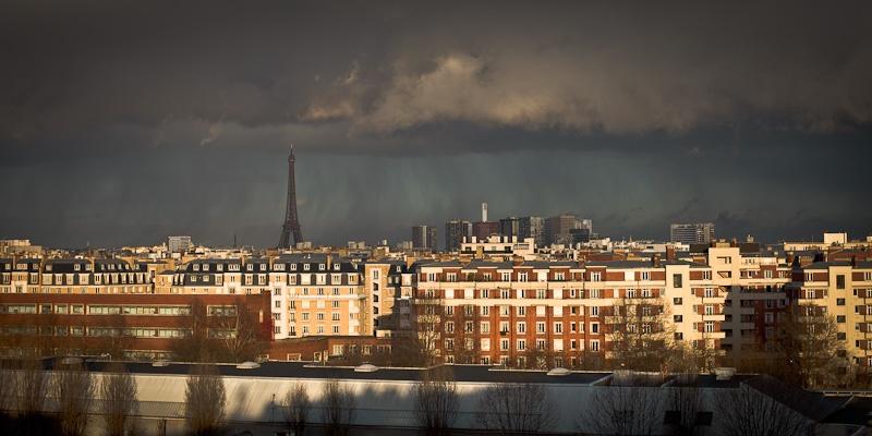 Orage sur la Tour Eiffel - Paris