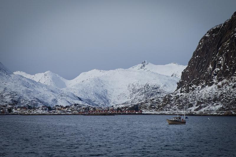 Norvege Lofoten - Safari des mers Svolvaer vu de la mer