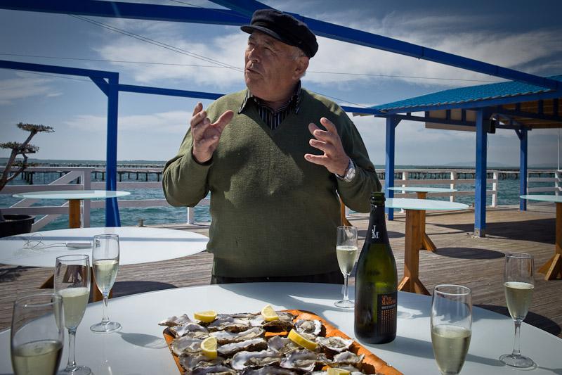 Avi Augusti producteur d'huitre de la baie des Alfacs terres de l'ebre