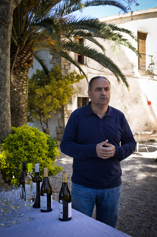 Route gastronomique en catalogne. vin bio du penedes