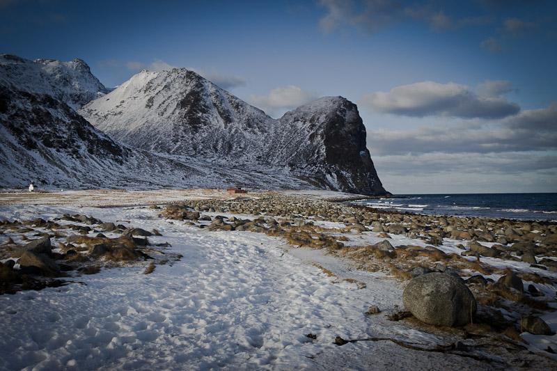Norvège Unstad - Lever de soleil sur la plage