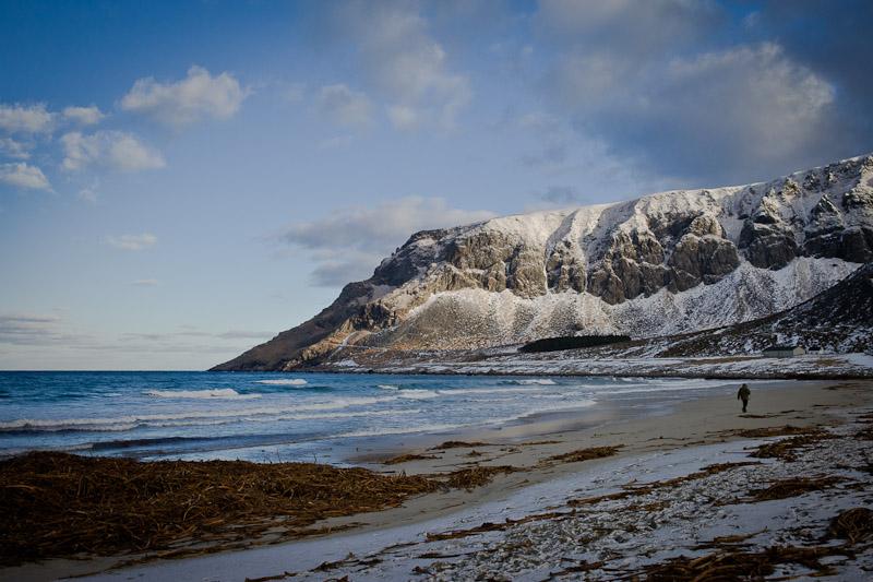 Unstad - Sur la plage d'Unstad
