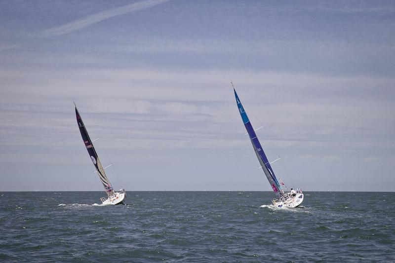 Depart Solitaire du Figaro Deauville - Ovimpex et Armor Lux partent vers Plymouth