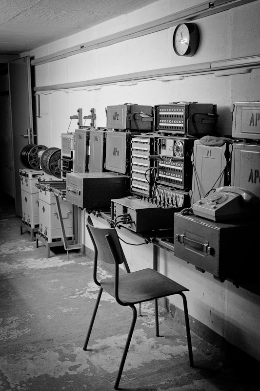 Visiter un bunker - Salle des transmissions