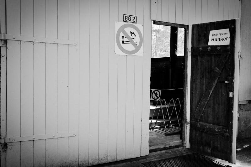 Visiter un bunker a leipzig - eingang zum bunker