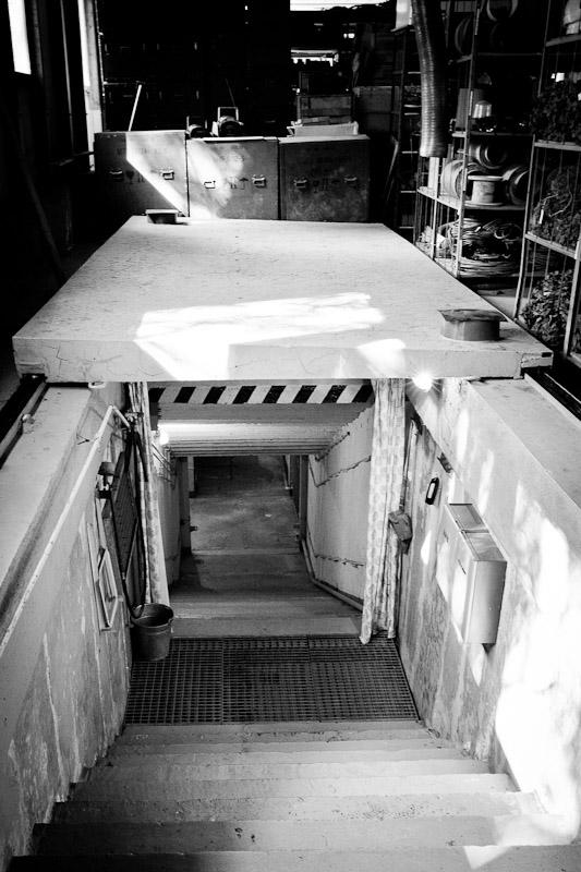 Visiter un bunker - entrée du bunker