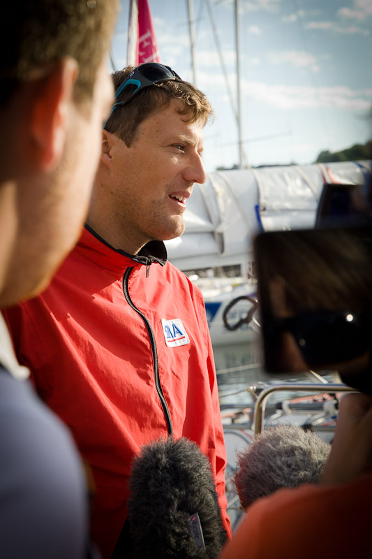 depart solitaire du figaro - Paul Mailhat SMA