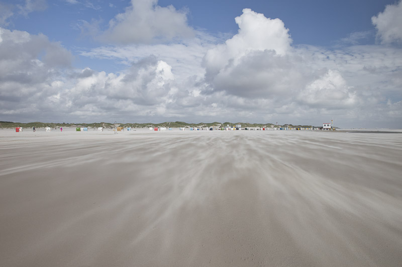 Amrum - le vent sur le sable