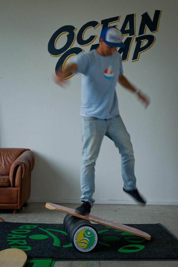 Surfer en Allemagne - Angelo sur la planche
