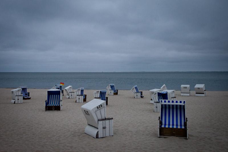 Surfer en Allemagne - Strandkorbe Sur la plage de Hornum Sylt