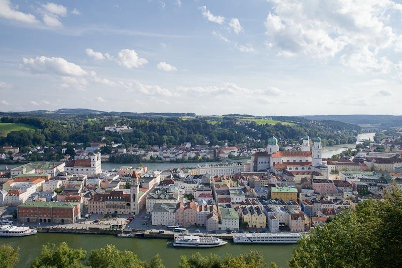 Voyage en Baviere - Passau vue de la forteresse