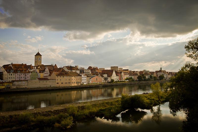 Voyage en Baviere - Ratisbonne reflet dans le danube