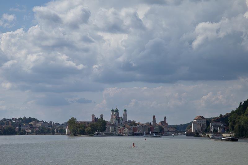 Voyage en Baviere - Ville de Passau le long du danube