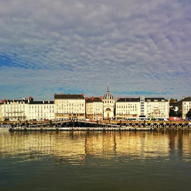Nantes vue de l'ile aux machines