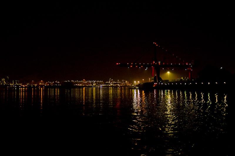 Port de rotterdam la nuit
