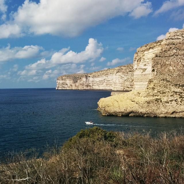 photos de Gozo - les falaises de Xlendi