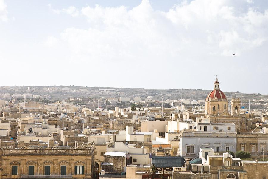 vue sur victoria gozo malte