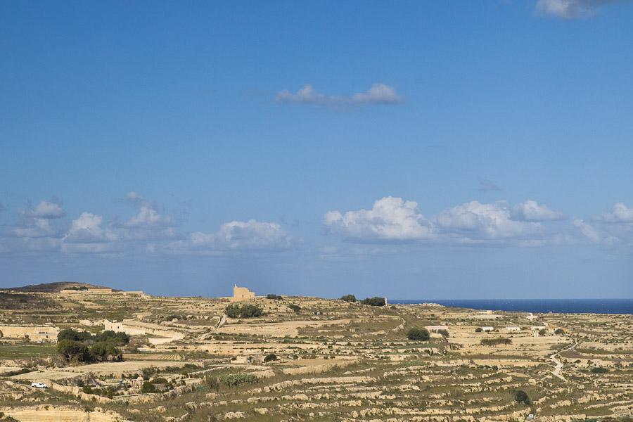 les campagnes de Gozo Malte