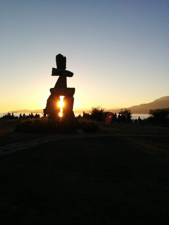 Inukshuk Vancouver sur english Bay