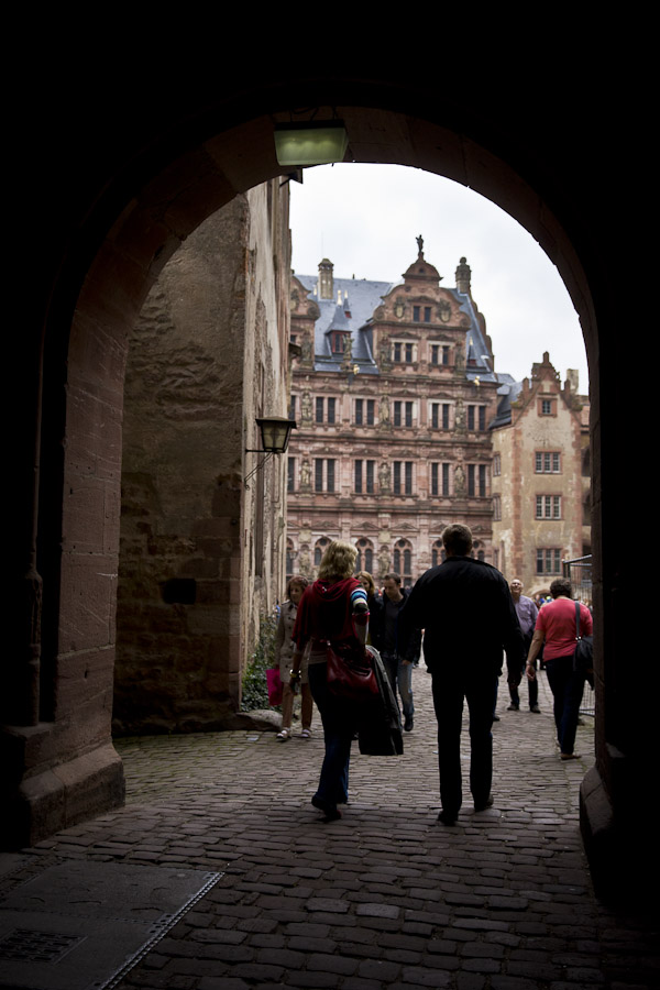 Bade wurtemberg - Entrée dans le chateau d'Heidelberg