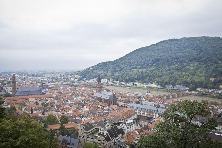 Bade wurtemberg - vue sur heidelberg depuis le chateau