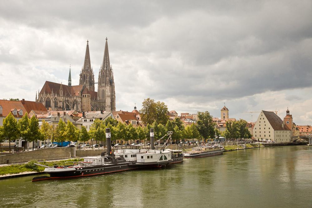 Baviere Rattisbonne - vue sur la cathédrale