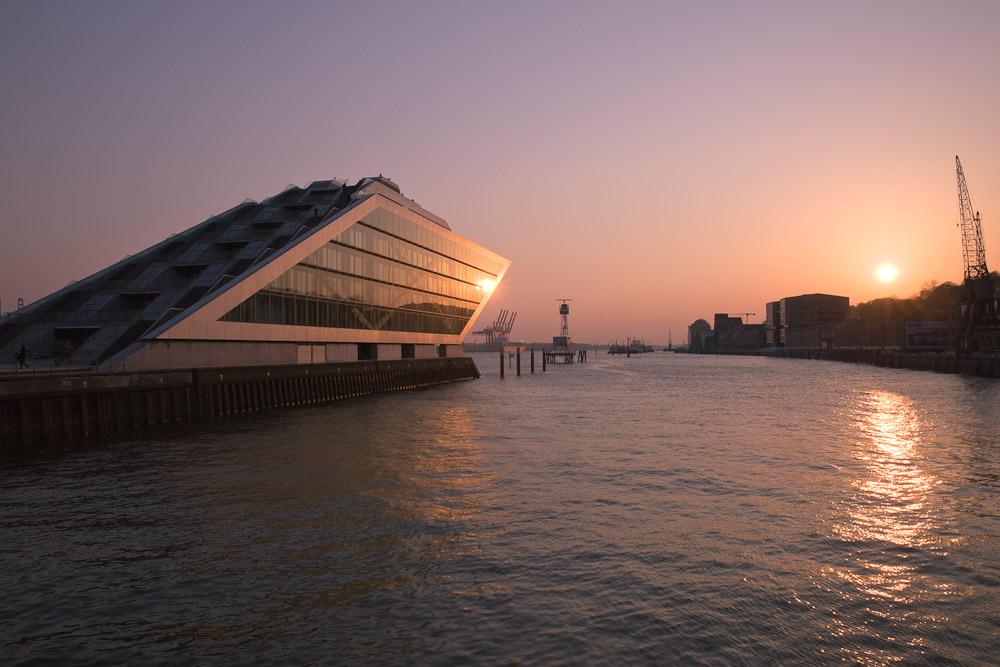 Hambourg - En arrivant sur le port