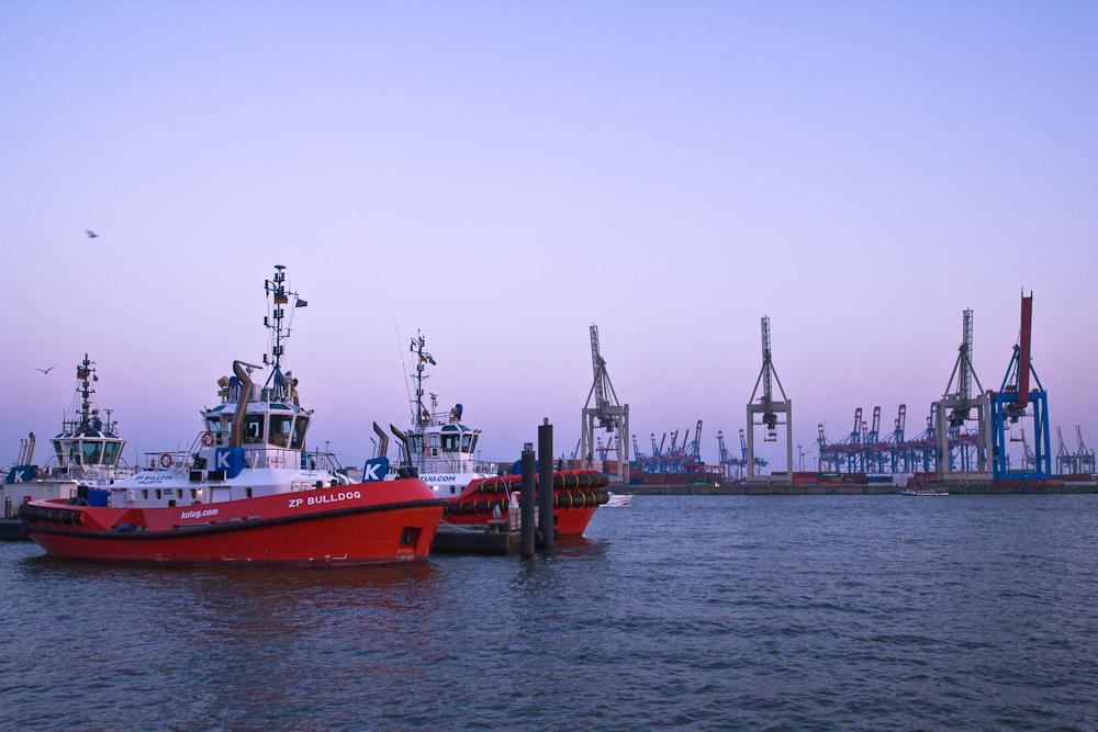Hambourg - Sur le port