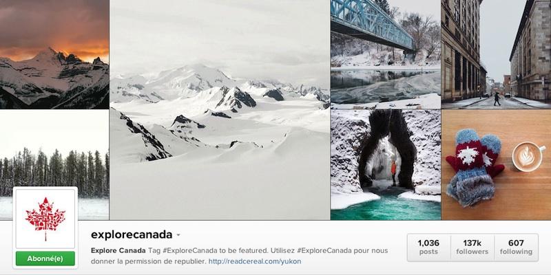 Instagram explore canada