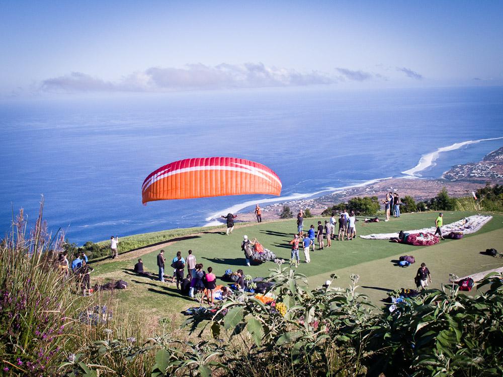 La Réunion - départ saut en parapente
