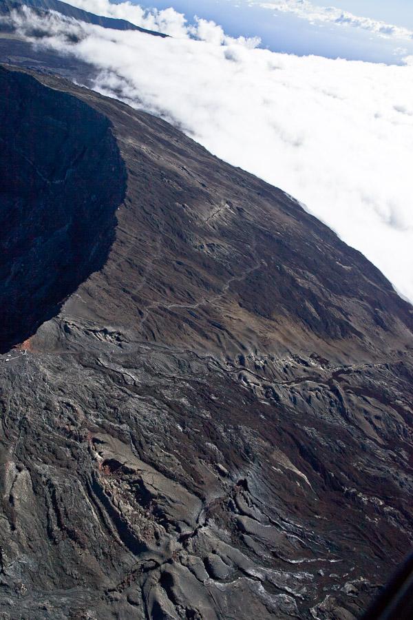 La Réunion vue du ciel - Coulée de lave 2