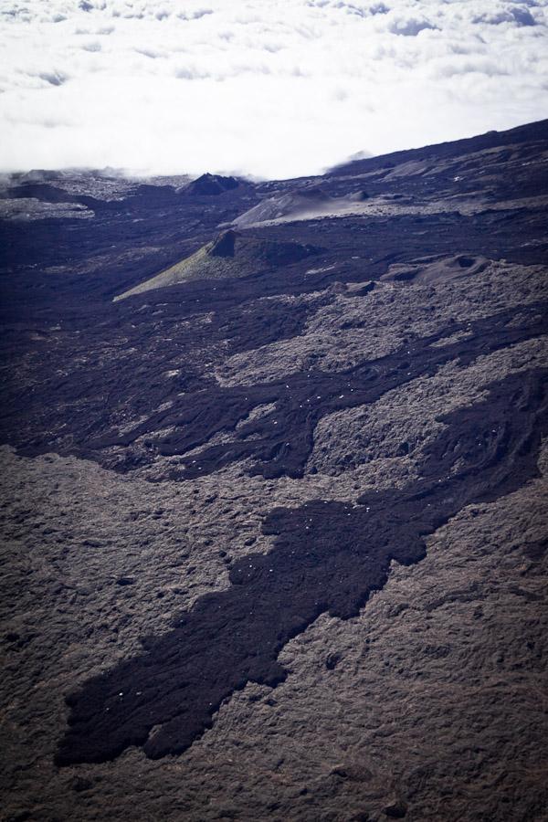 La Réunion vue du ciel - Coulée de lave