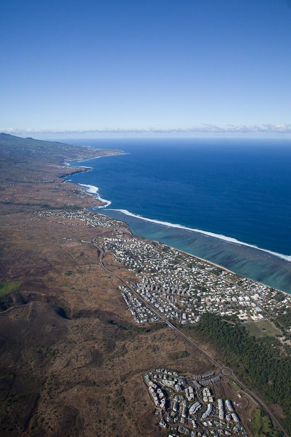 La Réunion vue du ciel - vue sur Le lagon