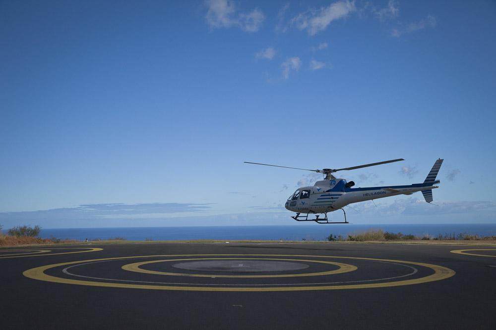 La réunion vue du ciel - l'hélicoptère