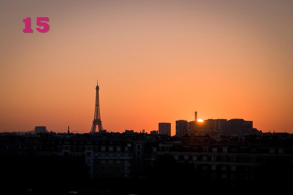 Paris je t'aime - lever de soleil en été
