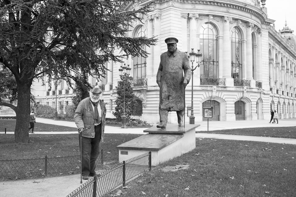 Statue de winston Churchill Petit Palais