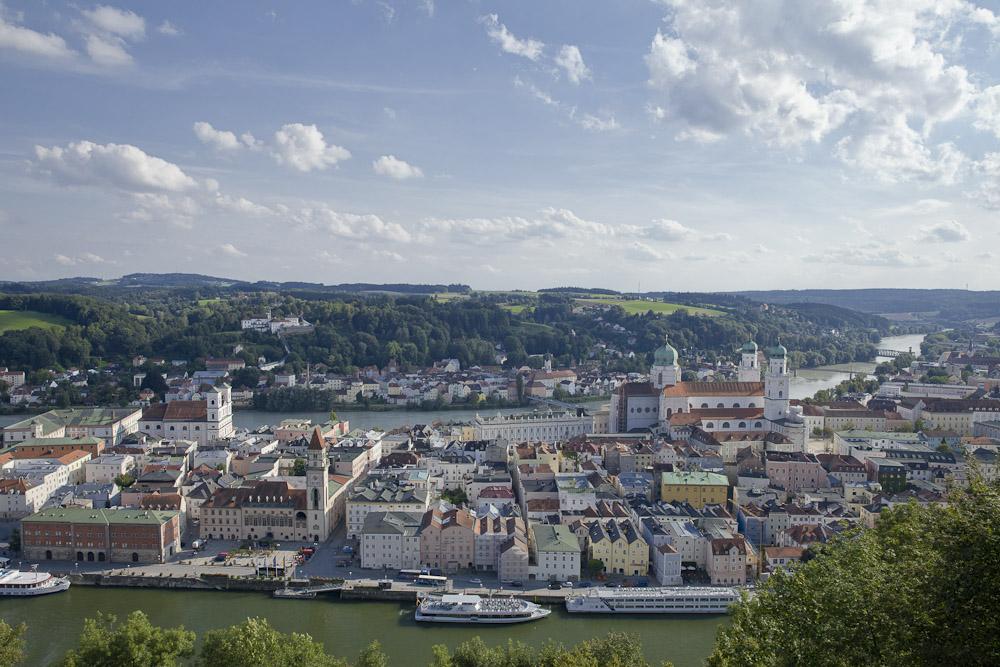 Vue sur Passau Allemagne