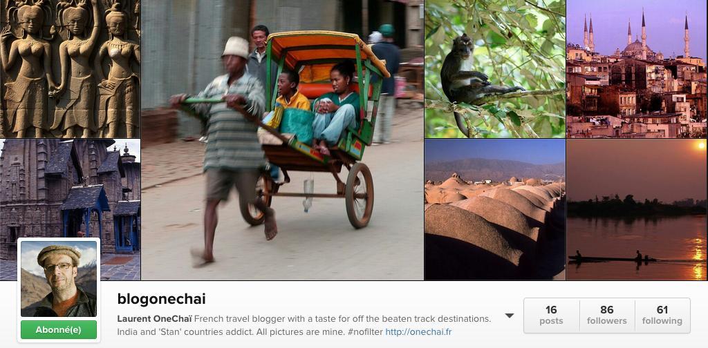 Blogueur voyage sur instagram blog Onechai