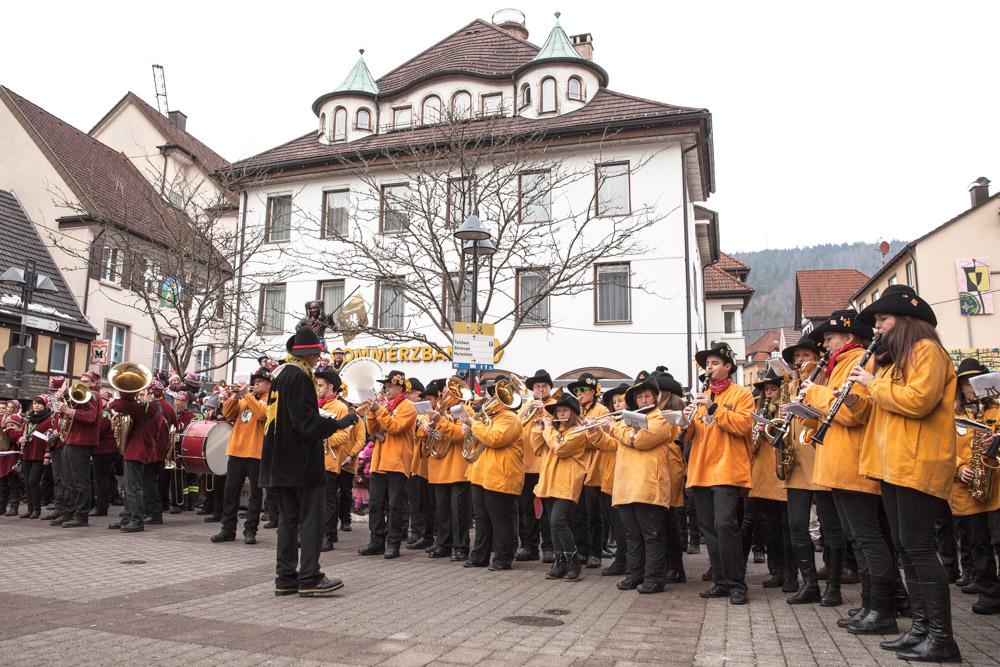 Carnaval en allemagne - Schramberg Bawu - fanfare