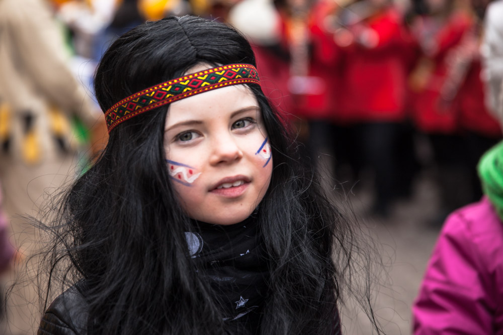 Carnaval en allemagne - Schramberg Bawu - petite indienne