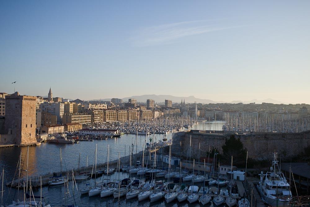 Lever de soleil sur Marseille depuis le sofitel