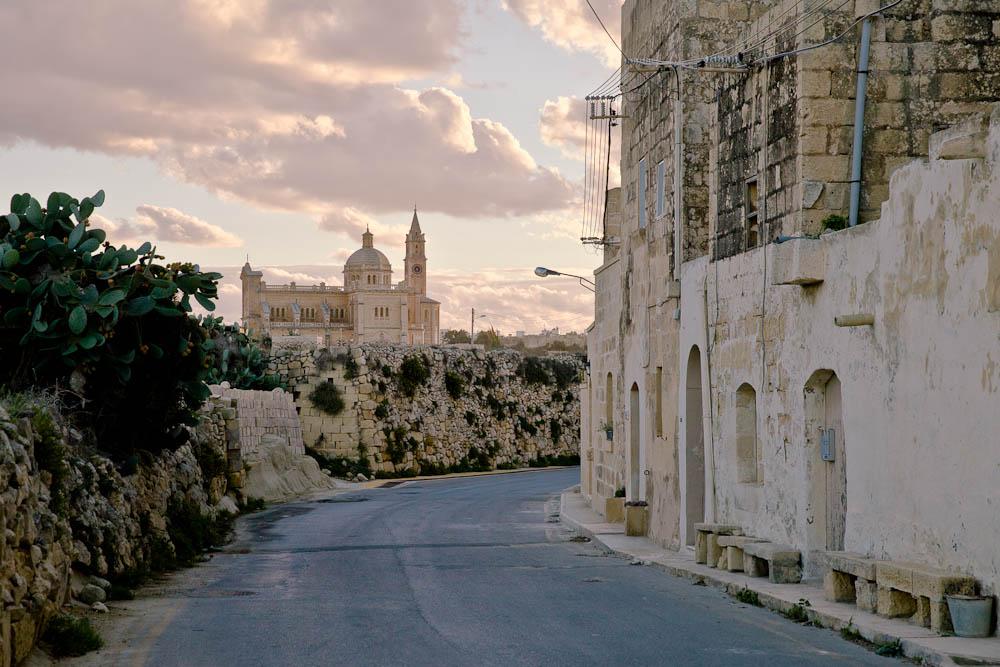 ruelles de Malte - vues sur Ta'pinu Gozo