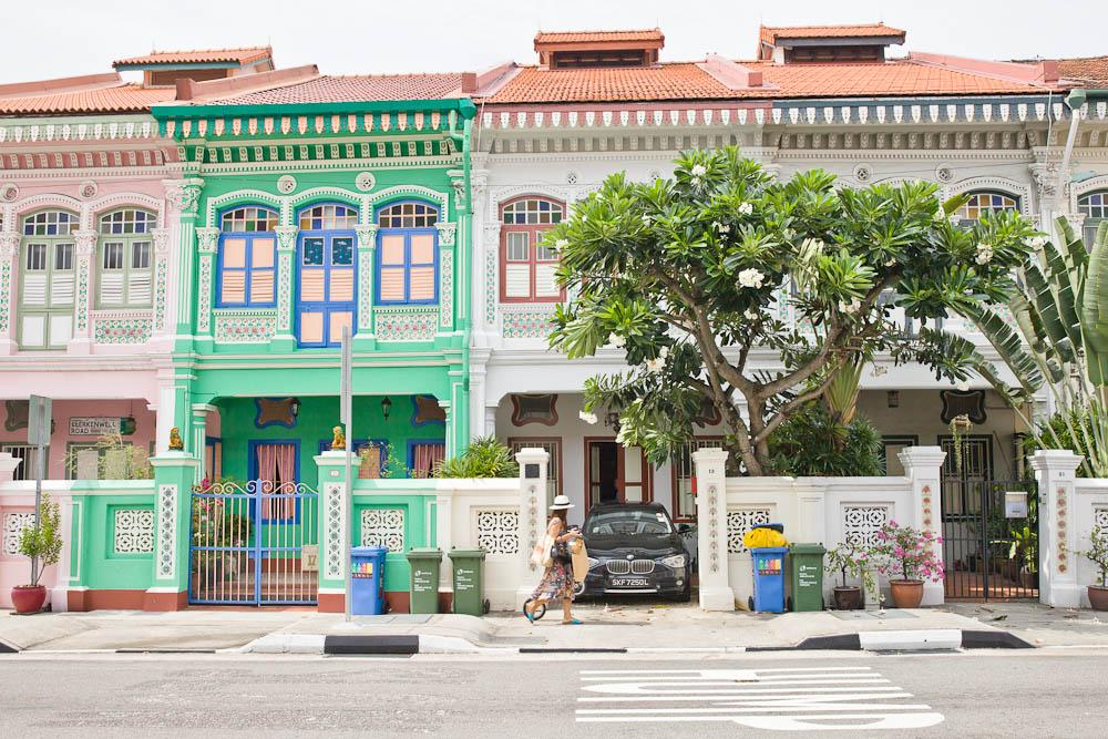 Joo Chiat est un superbe quartier authentique de Singapour. Ses maisons colorées sont magnifiques.