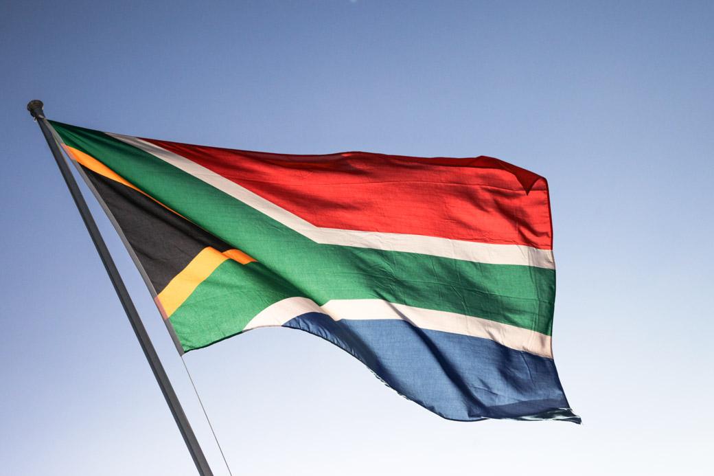le drapeau coloré de l'Afrique du sud