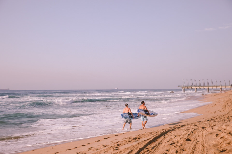 Durban Afrique du Sud - On va surfer