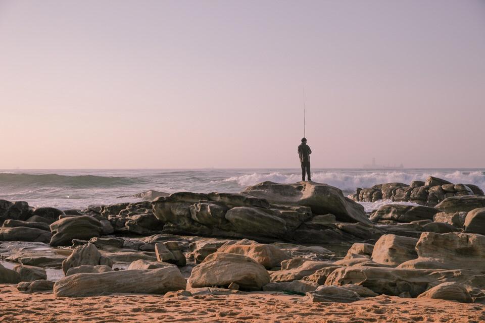 Durban Afrique du Sud - le pêcheur